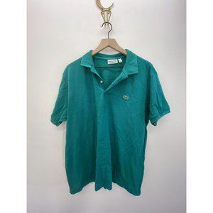 Lacoste Short Sleeve Solid Polo Shirt Blue Sz XXL